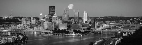 Wall Art - Photograph - Full Moon, Night, Pittsburgh by Panoramic Images
