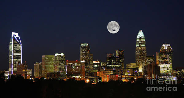 Photograph - Full Moon Over Charlotte by Kevin McCarthy