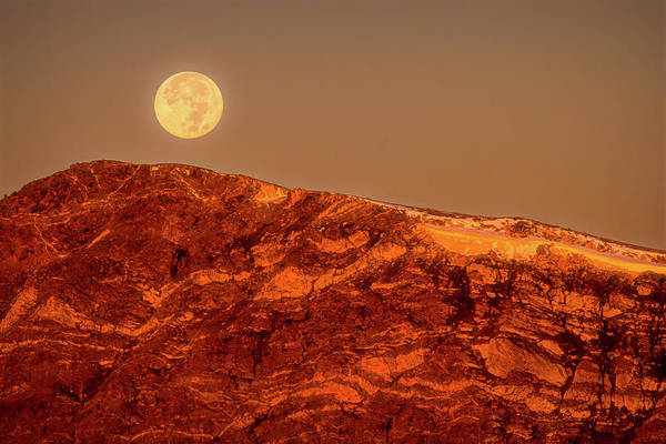 Wall Art - Photograph - Full Moon Over Mount Ida, Revisited by Eric Glaser