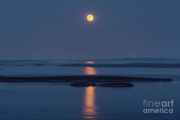 Wall Art - Photograph - Full Moon Over Penobscot Bay by Benjamin Williamson