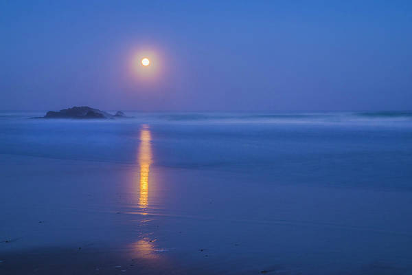 Photograph - Full Moon Over The Pacific - 3 by Jonathan Hansen