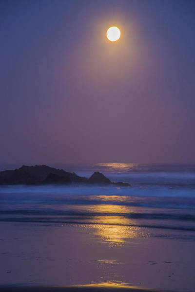 Photograph - Full Moon Over The Pacific by Jonathan Hansen
