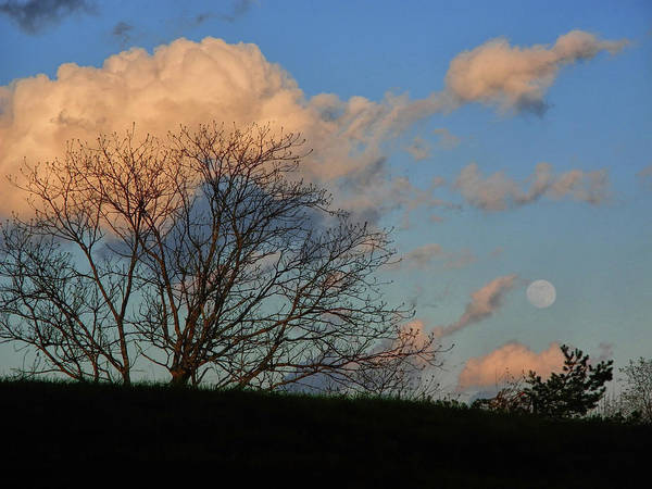 Photograph - Full Moon Over The Vt At by Raymond Salani III
