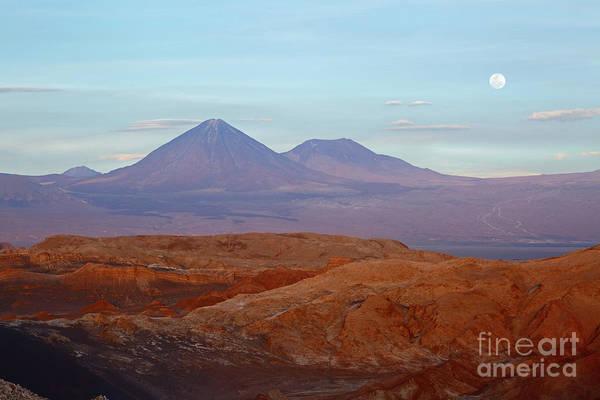 Photograph - Full Moon Rising Over Moon Valley Atacama Desert Chile by James Brunker