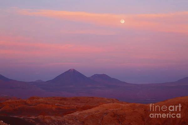 Photograph - Full Moon Sunset Over Moon Valley Atacama Desert Chile by James Brunker