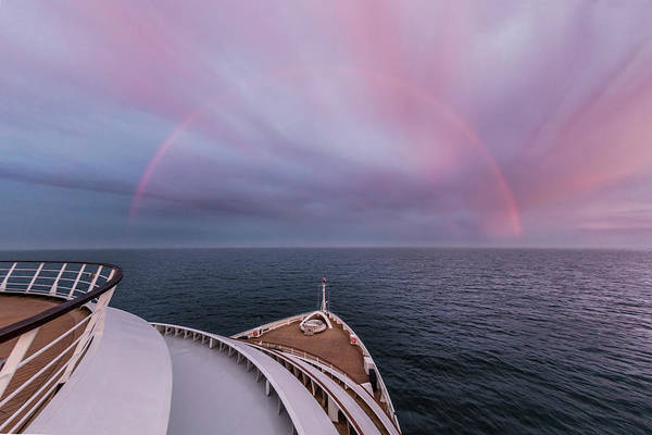 Photograph - Full Rainbow Over The Ship by Debra and Dave Vanderlaan