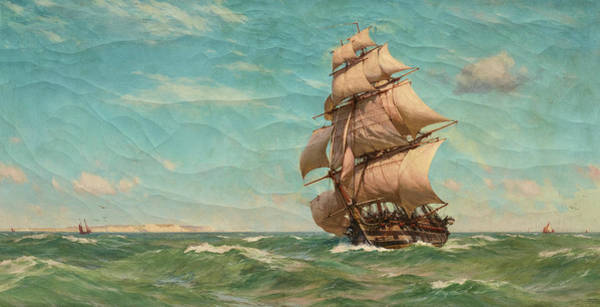 Wall Art - Painting - Full Sail, 1913 by John Fraser