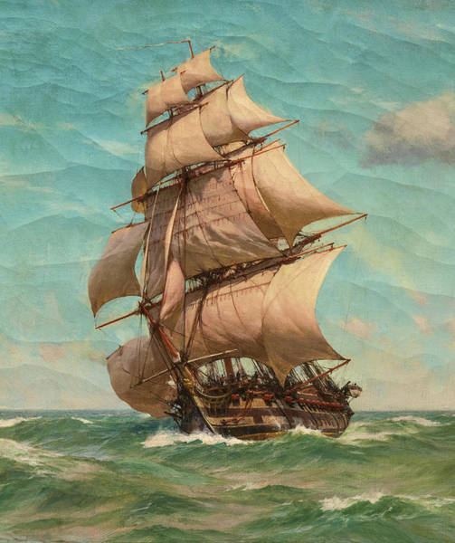 Wall Art - Painting - Full Sail by John Fraser