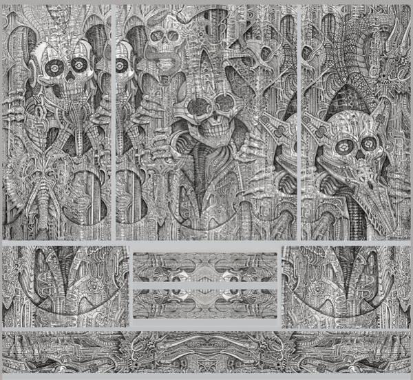 Wall Art - Drawing - Full Shirt C by John Oliver