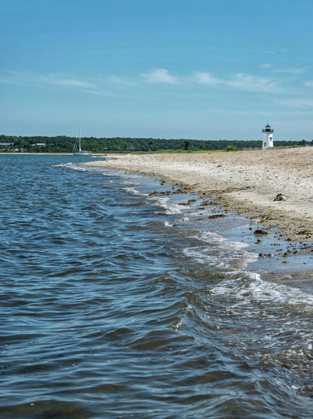 Wall Art - Photograph - Fuller Street Beach And Edgartown Harbor Light - Martha's Vineyard by Brendan Reals