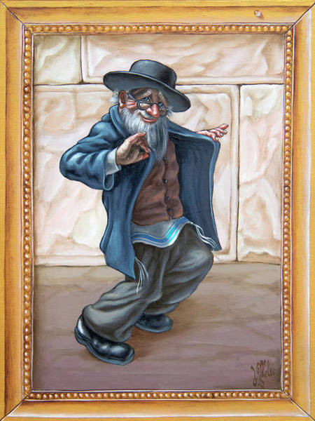 Painting - Fun Jewish Dance. Freilahs by Victor Molev