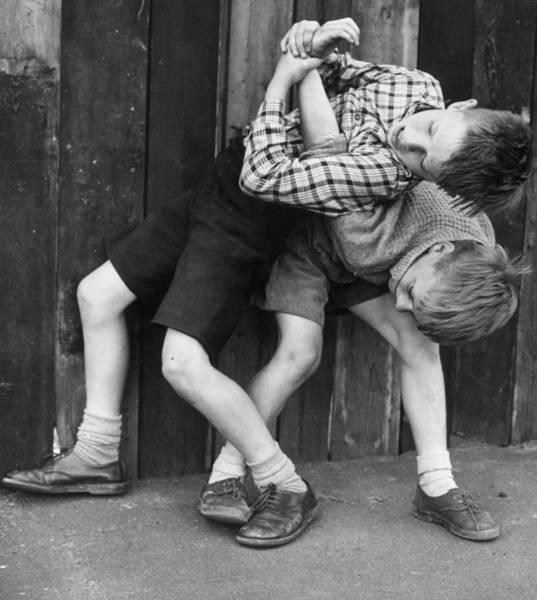 Photograph - Fun Roughhouse by Erich Auerbach