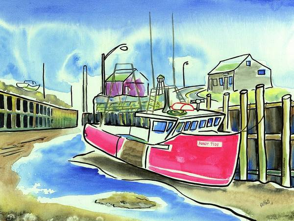Wall Art - Painting - Fundy Tide Hall's Harbour by Kevin Cameron