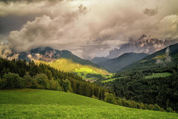 Photograph - Funes Valley Sunset by James Billings