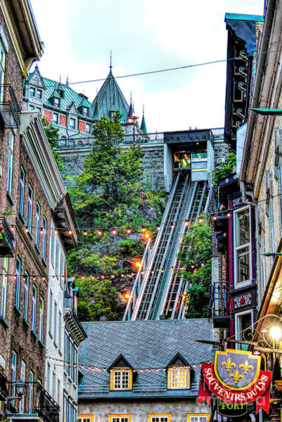 Photograph - Funicular At Quebec City by Amy Dundon