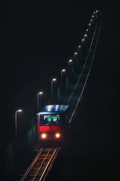 Photograph - Funicular Of Artxanda by Mikel Martinez de Osaba