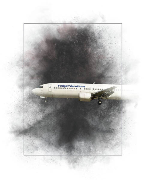 Wall Art - Mixed Media - Funjet Vacations Boeing 737-400 Painting by Smart Aviation