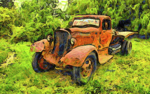 Photograph - Funky Dodge Flatbed Truck by Floyd Snyder