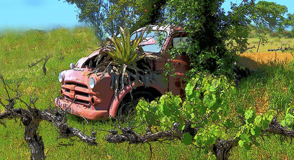 Photograph - Funky Dodge In The Vineyard 2 by Floyd Snyder