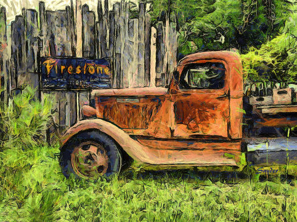 Photograph - Funky Dodge Wine Truck by Floyd Snyder