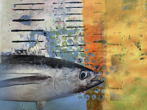 Wall Art - Mixed Media - Funky Fish by Nancy Merkle