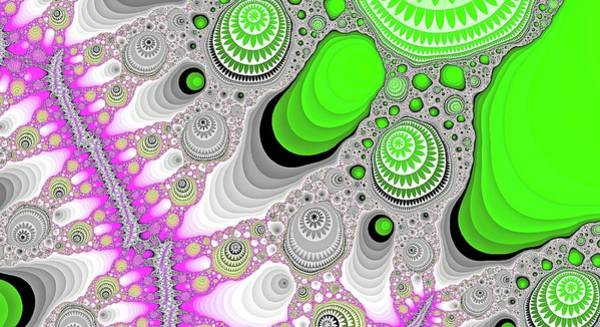 Digital Art - Funky Green Canyon by Don Northup