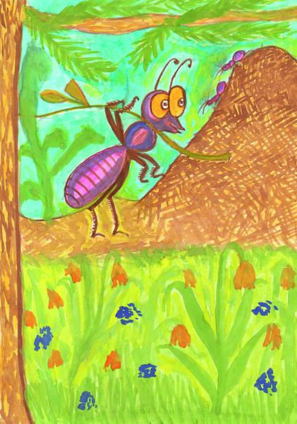Painting - Funny Ant by Irina Dobrotsvet