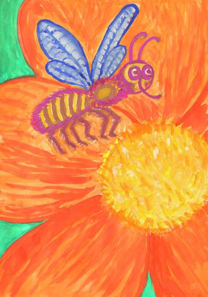 Painting - Funny Bee by Irina Dobrotsvet