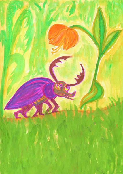 Painting - Funny Beetle by Irina Dobrotsvet