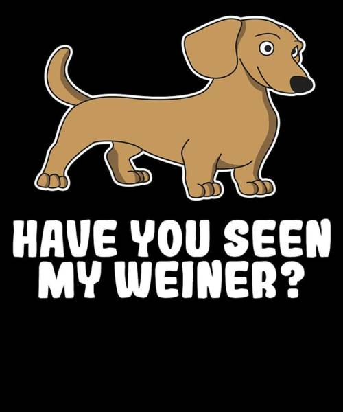 3d2778bb50 Hot Dog Mixed Media - Funny Cute Weiner Tshirt Designs Have You Seen My  Weiner by