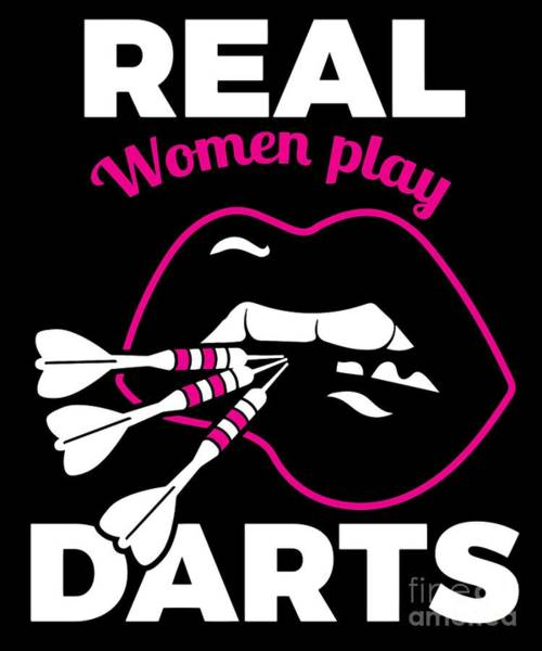 Amateur Digital Art - Funny Darts Design Gift For Dart Players Pub Games Sports Professionals And Amateurs On The Dart Board by Martin Hicks