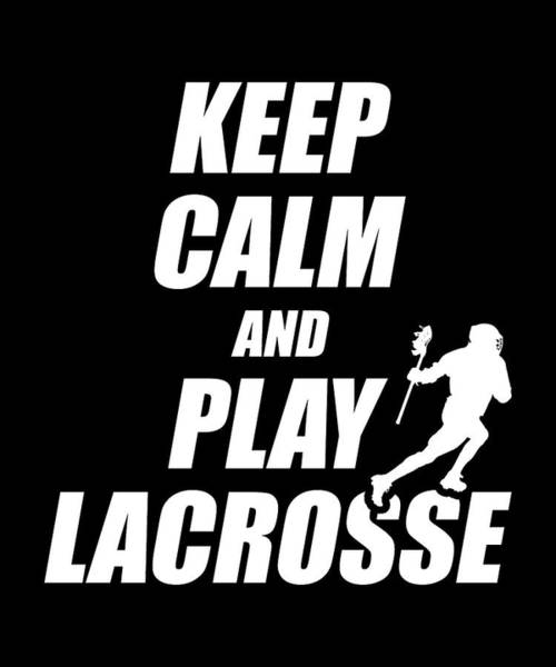Lax Digital Art - Funny Lacrosse Apparel by Michael S