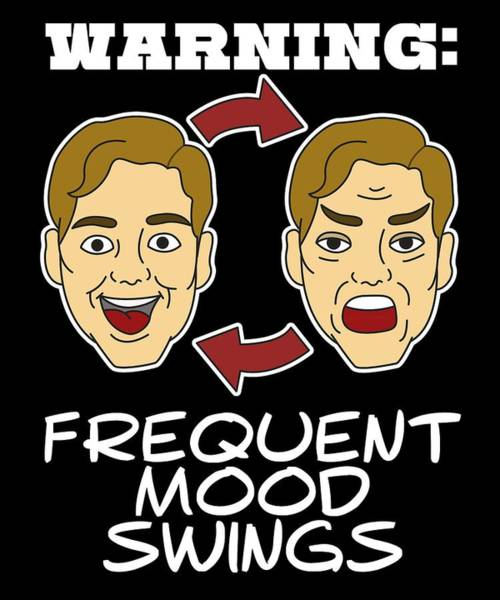 Pregnancy Mixed Media - Funny Mood Swing T Shirt Design Warning by Roland Andres