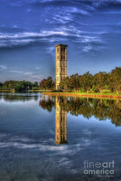 Photograph - Furman Bell Tower Reflections Furman University Greenville South Carolina Landscape Art by Reid Callaway