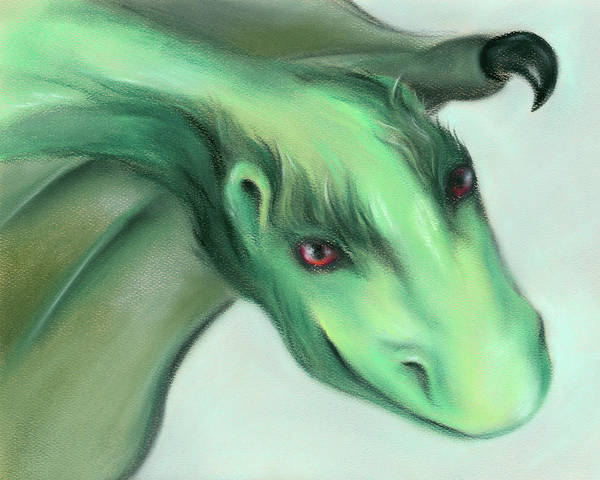 Pastel - Furry Green Dragon by MM Anderson