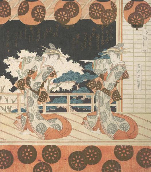 Relief - Furuichi Dance by Yashima Gakutei