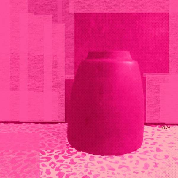 Photograph - Fuschia Pot Cubed by VIVA Anderson