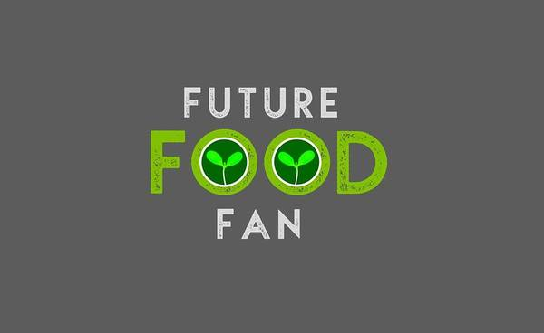 Drawing - Future Food Fan Centered - Green And Gray by Charlie Szoradi