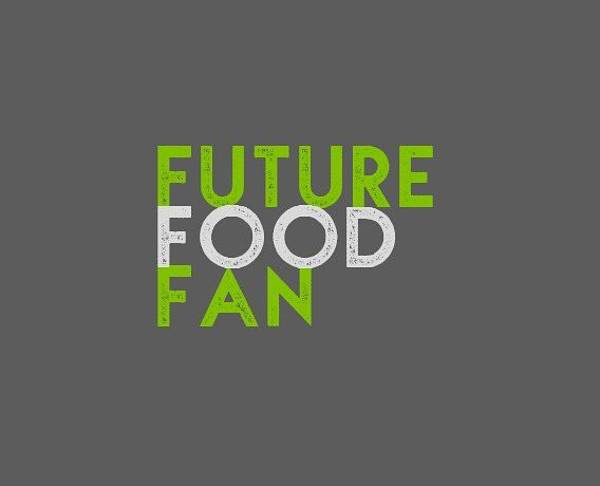 Drawing - Future Food Fan Left Justified - Green And Gray by Charlie Szoradi
