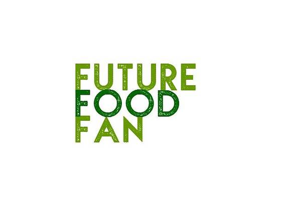 Drawing - Future Food Fan Left Justified - Two Greens by Charlie Szoradi