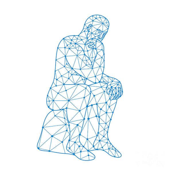 Wall Art - Digital Art - Future Man Thinking Nodes by Aloysius Patrimonio