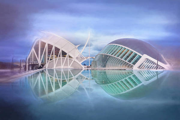 Arte Photograph - Futuristic Architecture Of Modern Valencia Spain  by Carol Japp