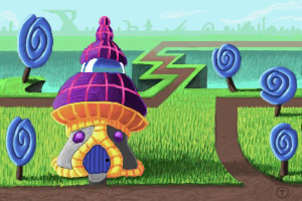 Digital Art - Futuristic Mushroom-house by Thomas Olsen