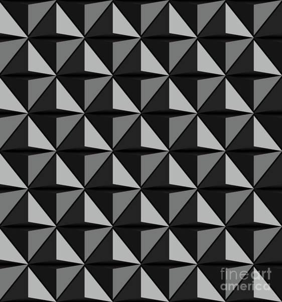 Display Digital Art - Futuristic Triangle-3d -vector by Atiketta Sangasaeng