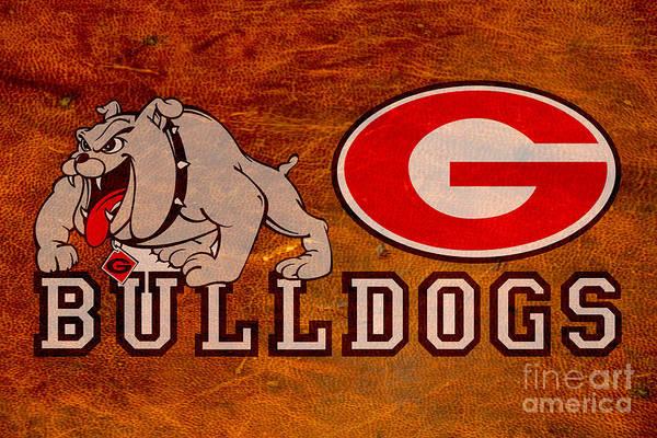 Wall Art - Digital Art - G S U Bulldogs by Steven Parker