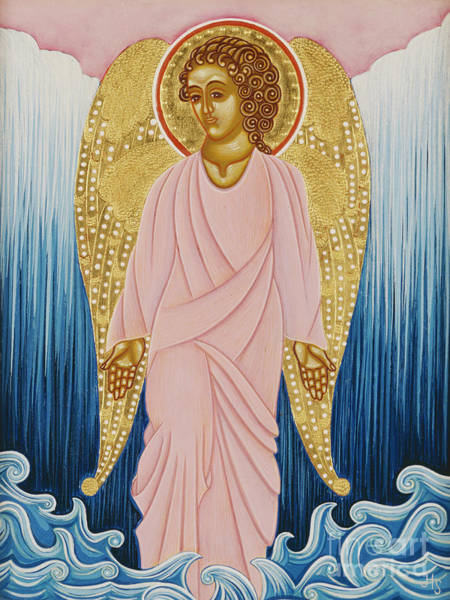 Wall Art - Painting - Gabriel, Angel Of Water by Jodi Simmons