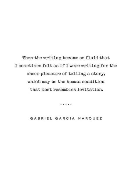 Thoughts Mixed Media - Gabriel Garcia Marquez Quote 02 - Typewriter - Minimal, Modern, Classy, Sophisticated Art Prints by Studio Grafiikka