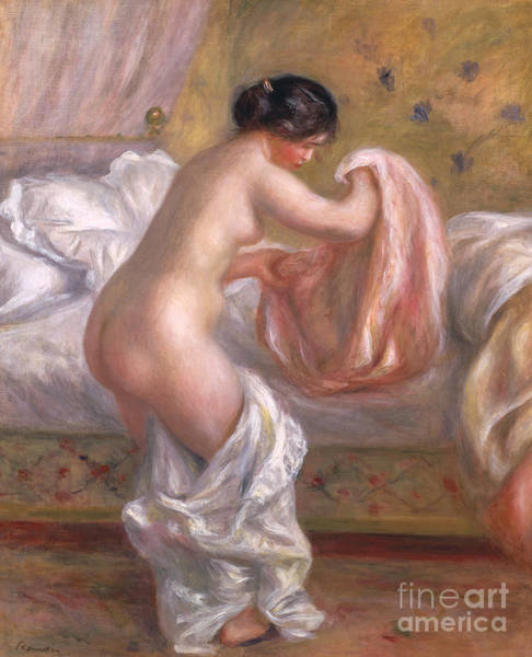 Wall Art - Painting - Gabrielle Arising, Circa 1909  by Pierre Auguste Renoir