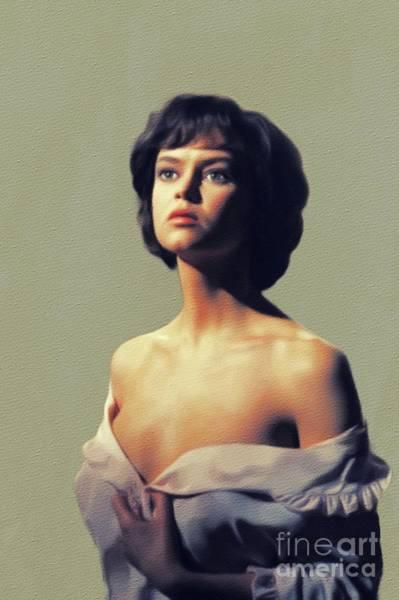 Drake Wall Art - Painting - Gabrielle Drake, Vintage Actress by John Springfield