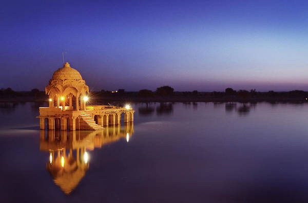 Hindu Photograph - Gadi Sagar Lake, Jaisalmer by Kartik Jasti Photography